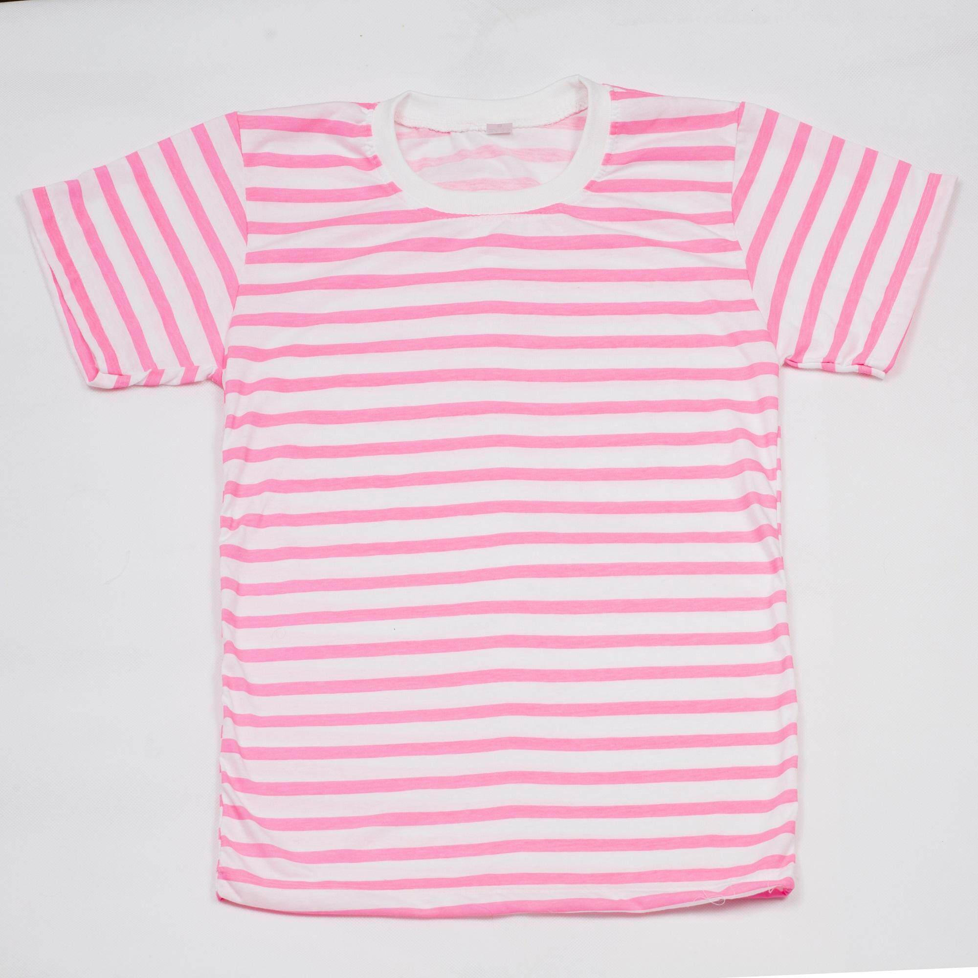 Winter Cotton T Shirt Stripes Tshirt Style Cool Printed Unisex Tee 100% Made in thailand