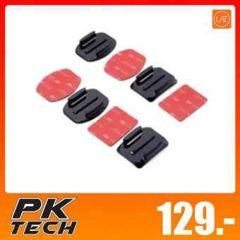 PK TECH 4pcs Flat Mounts&Curved Mounts + 3M Adhesive Pads Set for Gopro Hero 3 3+ 4