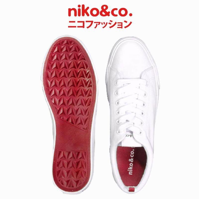 niko&co. signature red tab canvas sneakers
