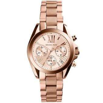 MICHAEL KORS Bradshaw Chronograph Rose Dial Rose Gold-tone Ladies Watch MK5799