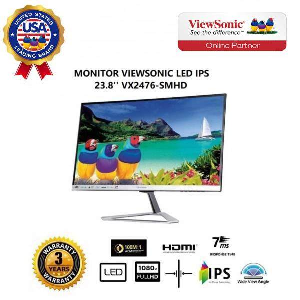 "ViewSonic VX2476-SMHD 24"" IPS 1080p Frameless LED Monitor HDMI, DisplayPort"
