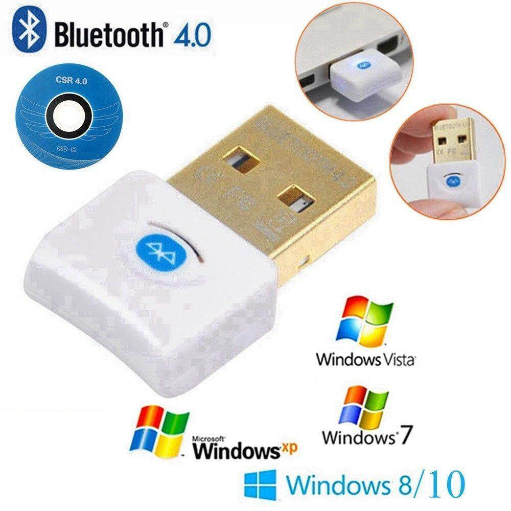 USB Bluetooth v4.0 Adapter Dongle CSR EDR for PC Laptop Windows 10 8 7 XP