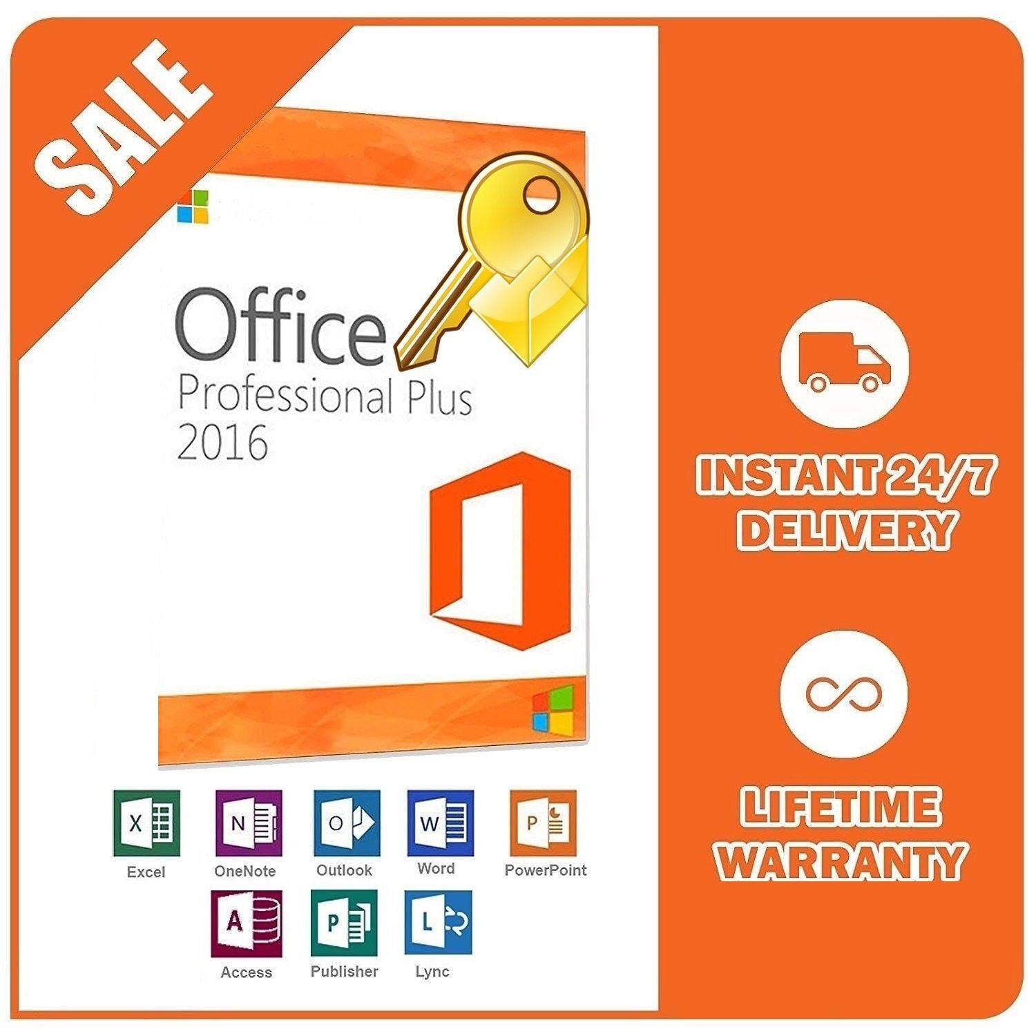 Office 2016 Professional Plus Windows   แท้ 100% 32/64 bit Activation KEY (Only Microsoft Windows)