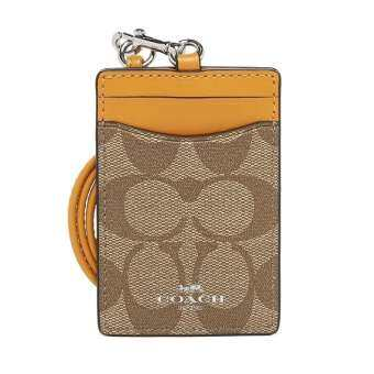 Coach F63274  กระเป๋าใส่บัตร  Lanyard ID Case In Signature Coated Canvas