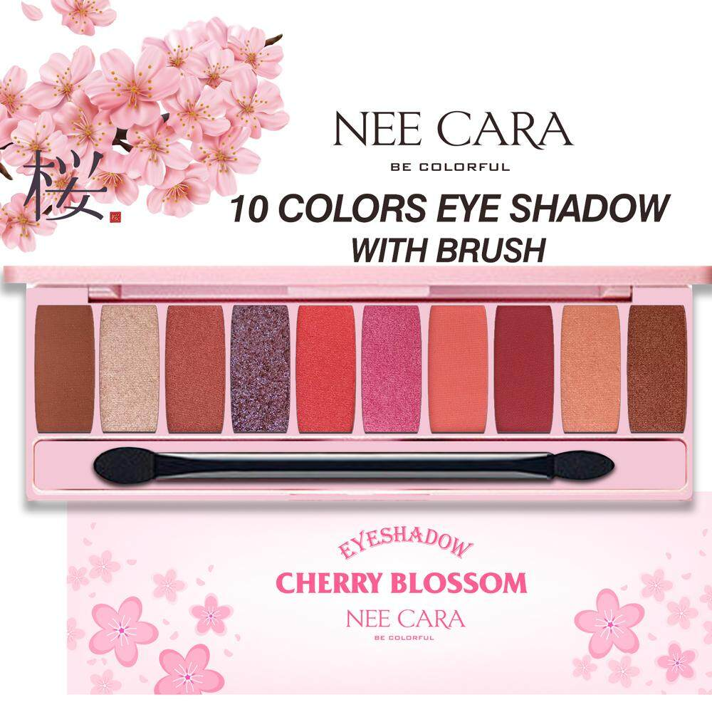 NEE CARA 10 COLORS EYESHADOW WITH BRUSH(N125) อายแชโดว์ 10 สี