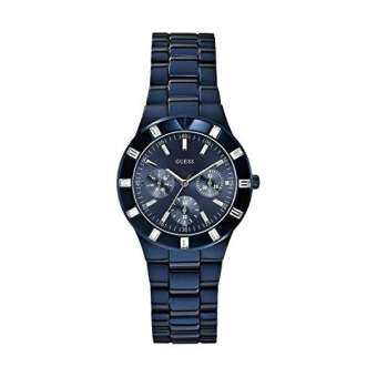นาฬิกาข้อมือผู้หญิง Guess Glisten Blue Dial Blue Stainless Steel Ladies' Watch W0027L3