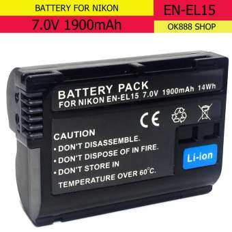 Camera battery EN-EL15 for Nikon D7100 D610 D500 D7200 V1 D750 D810 D800E(black)