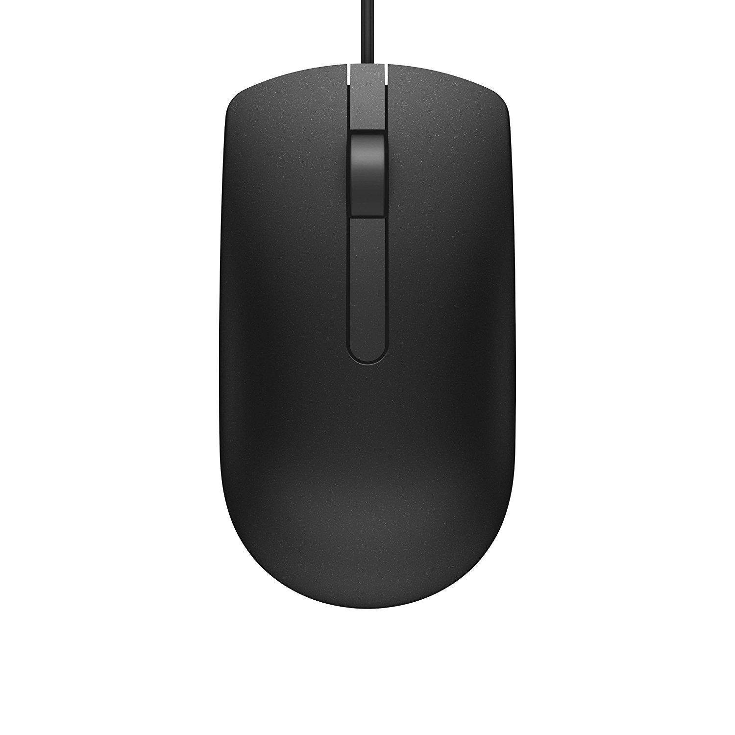 Dell MS116 USB Optical Mouse 1000dpi, 1.8m (Black)
