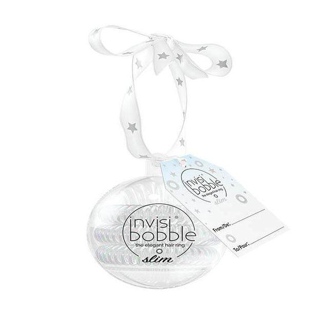 invisibobble ยางรัดผม รุ่น slim bauble (the wonderfuls collection) สี white christmas