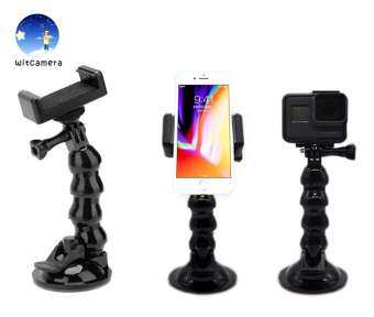 Flexible Arm Car Suction Cup Hose Mount Holder & Phone Braket for Gopro / SJCAM / XioaYi /AKASO EK5000 and other sport cameras - แขนยืดหยุ่นรถจุกดูด Hose Mount ผู้ถือโทรศัพท์ Braket สำหรับ GoPro / SJCAM / XioaYi /AKASO EK5000 and other sport cameras