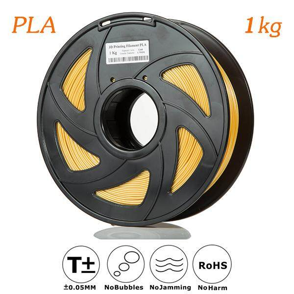 3D Printer Filament PLA 1.75 1kg Gold Grade A NoJam  No Bubbles ROHS,SGS Certificate