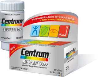 Centrum Silver 50+ From A to Zinc + Beta Carotene Lutein and Lycopene 90 Tablets