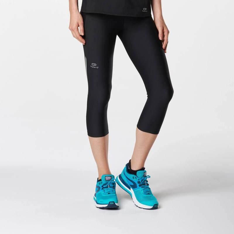 กางเกงวิ่งขาส่วนสำหรับผู้หญิงรุ่น RUN DRY (สีดำ)