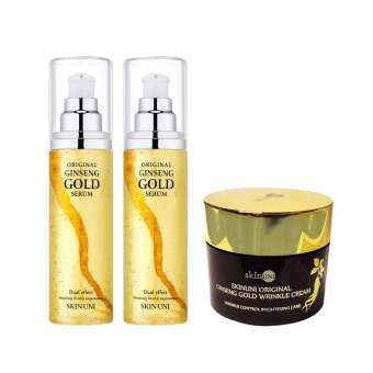 Best of Beauty SKIN UNI GINSENG GOLD Essence 100ml. 2ชิ้น + Skin Uni Ginseng gold wrinkle cream 50กรัม 1ชิ้น