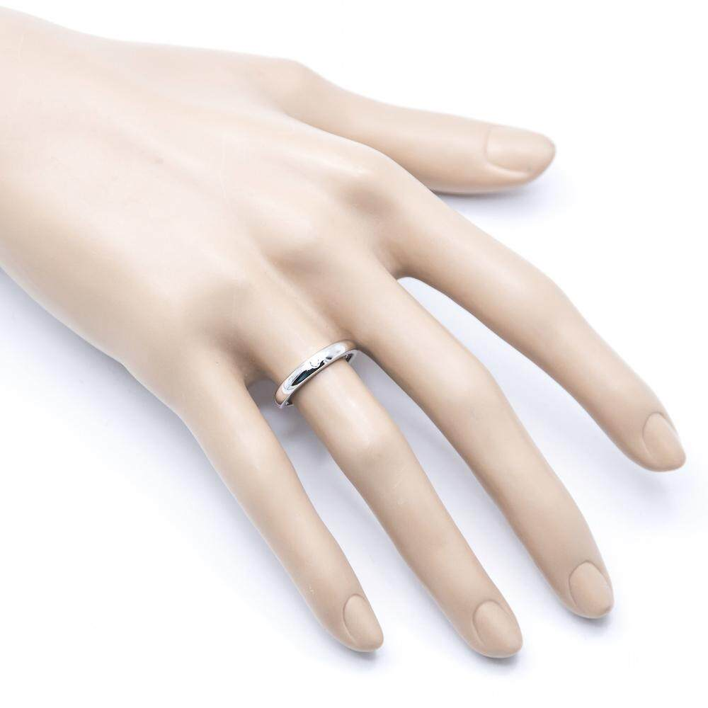 Beauty Jewelry 925 Silver Jewelry แหวนคู่รัก แหวนวาเลนไทน์ Valentine แหวนหมั้น แหวนแต่งงาน แหวนเงินแท้ประดับเพชร CZ 2 วง รุ่น SS2270-RR เคลือบทองคำขาว
