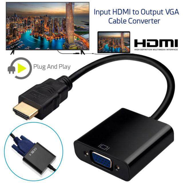 HDMI to VGA Converter Adapter for PC DVD TV Monitor