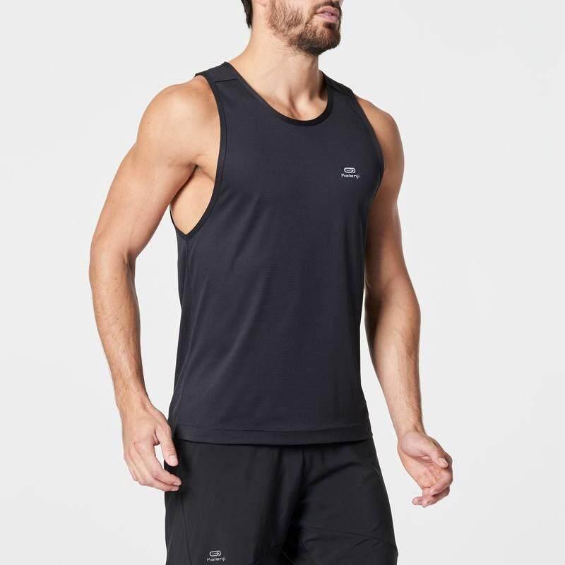 เสื้อกล้ามใส่วิ่งสำหรับผู้ชายรุ่น RUN DRY (สีดำ)
