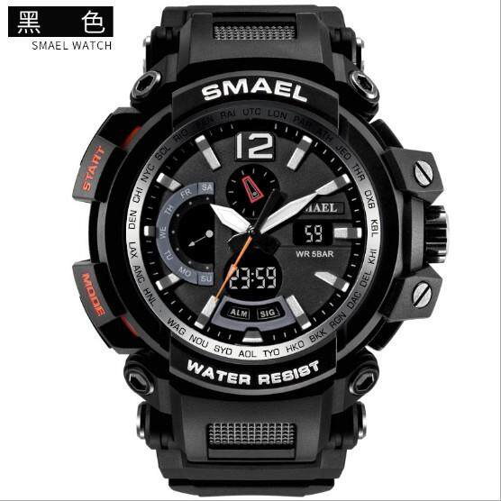 SMAEL 1702 Men's Sports Watch Analog Fashion Quartz Men's Digital Watch Digital Clock Men's Waterproof Watches สินค้าพร้อมส่ง (มีเก็บเงินปลายทาง) R-038