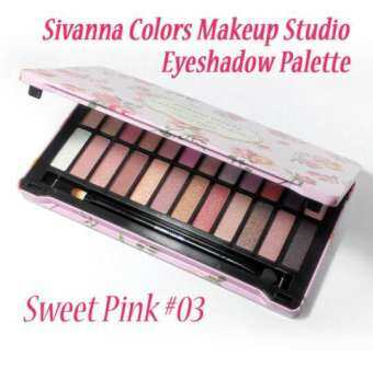Sivanna Colors Makeup Studio Eyeshadow 24 Colors Palette HF-990 พาเลทอายแชโดว์ กล่องเหล็ก  Sivanna Colors Makeup Studio Eyeshadow 24 Colors Palette