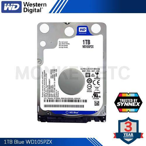 HDD (ฮาร์ดดิสก์) WD 1.0TB BLUE NOTEBOOK (WD10SPZX) By Synnex