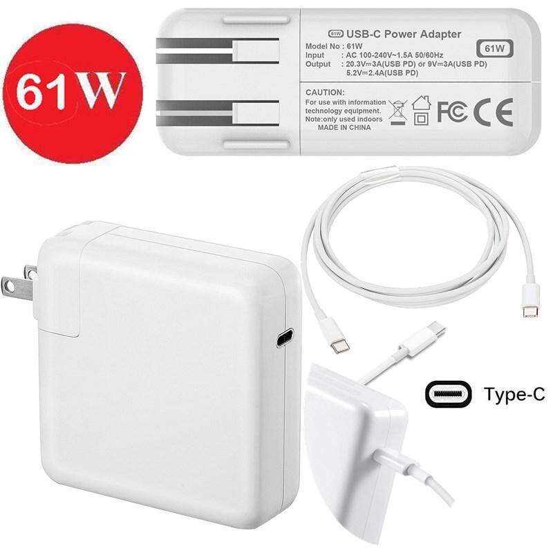 "61W Type C USB-C Power Adapter Charger w/ Cable for Apple Macbook Pro 13"" A1706"