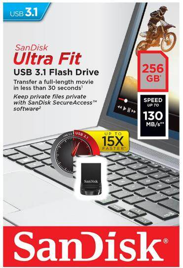 SANDISK ULTRA FIT USB 3.1 256GB (SDCZ430-256G-G46)
