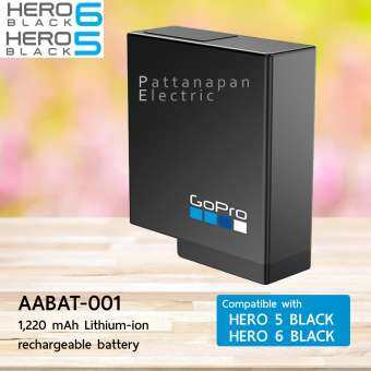 GOPRO Rechargeable Battery AABAT-001 FOR HERO6 and HERO5 Black