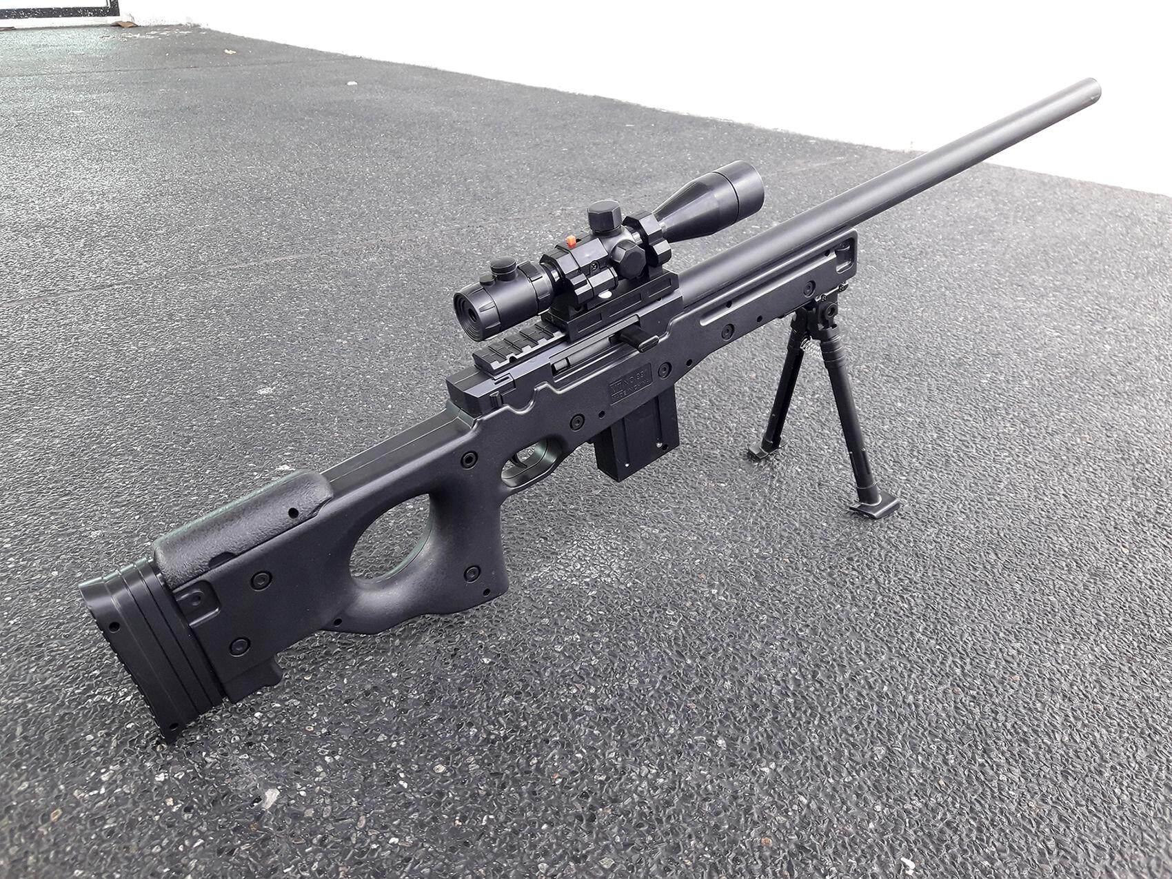 KhoaOat Toys ปืนอัดลม ปืนสไนเปอร์อัดลม ลำกล้องติดเลเซอร์ บอดี้พลาสติกแข็ง รุ่น MT.991