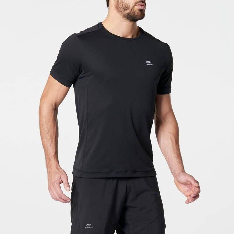เสื้อยืดใส่วิ่งสำหรับผู้ชายรุ่น RUN DRY (สีดำ)