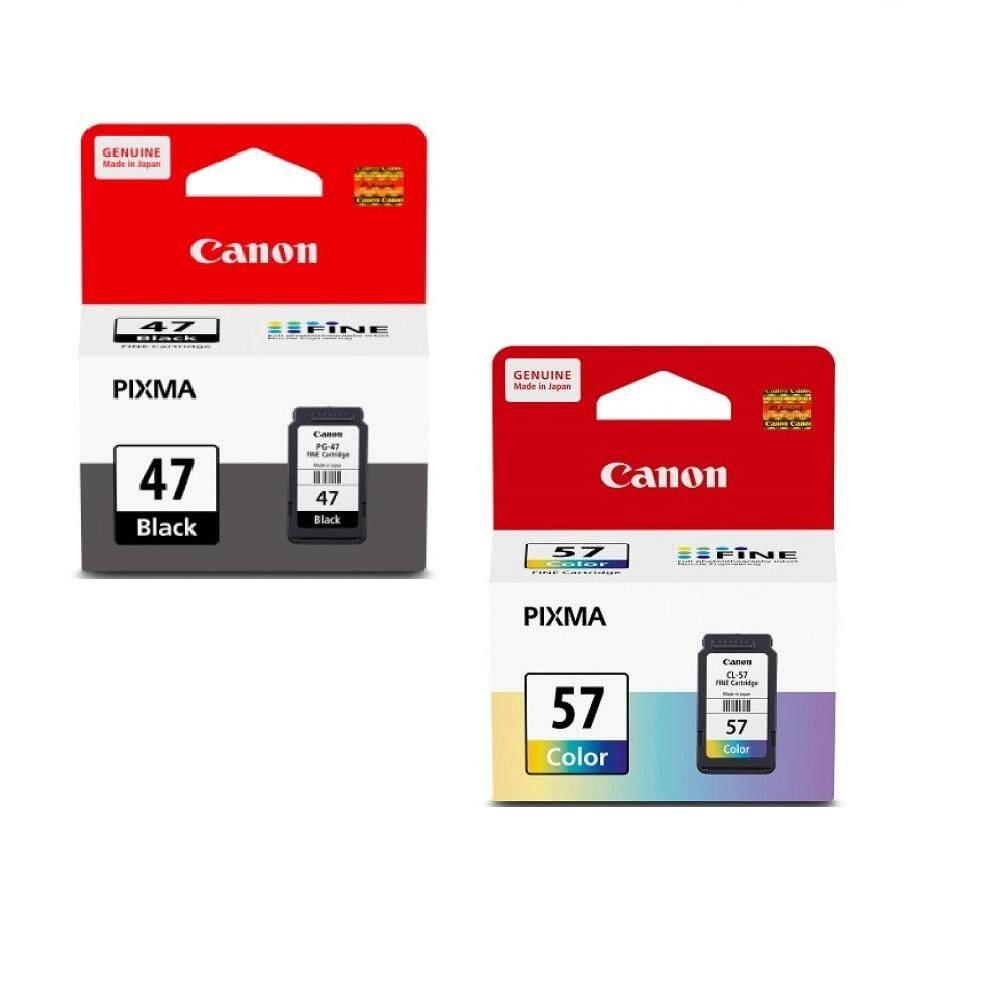 Canon PG-47BK + CL-57CO (Set สีดำ+สี) Origial Ink