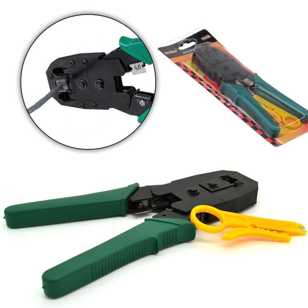 Green Portable Style Hard and Durable Network RJ45 CAT5 RJ11 RJ12 LAN Cable Wire Crimper Crimp Plier Strip Tool