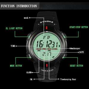 Hình thu nhỏ sản phẩm Sports Big Dial Men Electronic Waterproof Teen Climb Luminous Digital Watch