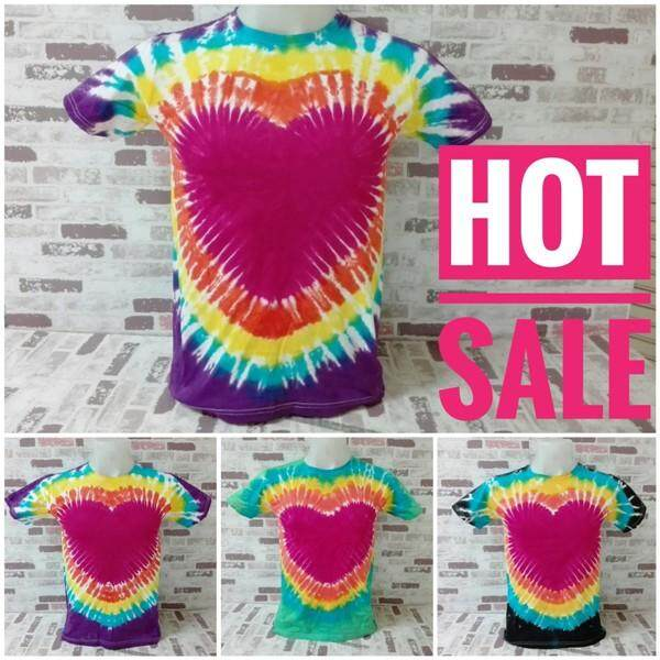 Demak Tshirts Cotton100% Retro Tie Dye T-Shirts Adult S M L XL 2XL Colorfultone