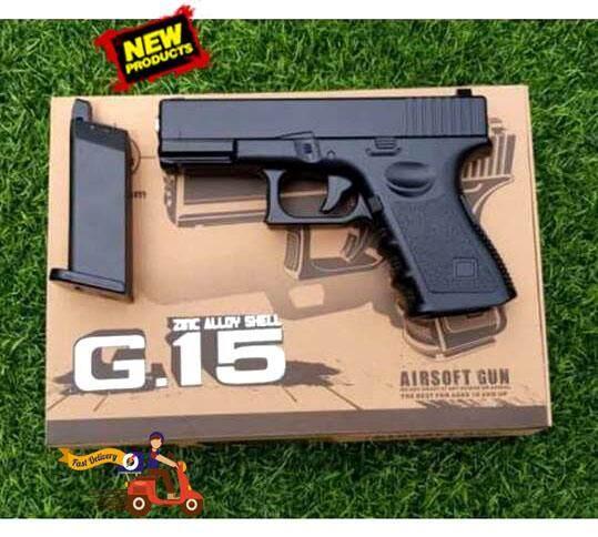 เซตปืน ปืนอัดลม G.15 พร้อมลูก BB 2000 นัด