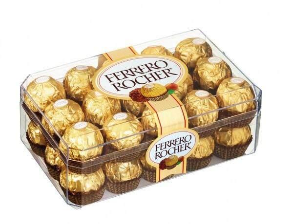 ล็อตผลิตใหม่ล่าสุด ส่งด่วนทันใจโดย KERRY 1 กล่อง 30 ลูก ติดใจ๊ ติดใจหยุดไม่ได้ Ferrero Rocher เฟอร์เรโรรอชเชอร์ช็อกโกแลต(อร่อยสุดๆไม่เหมือนใคร)