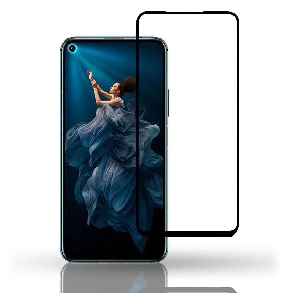 """ฟิล์มกระจก เต็มจอ กาวเต็มแผ่น หัวเว่ย โนว่า5ที สีดำ Full Glue Tempered Glass Screen For Huawei Nova 5T (6.26"""") Black"""