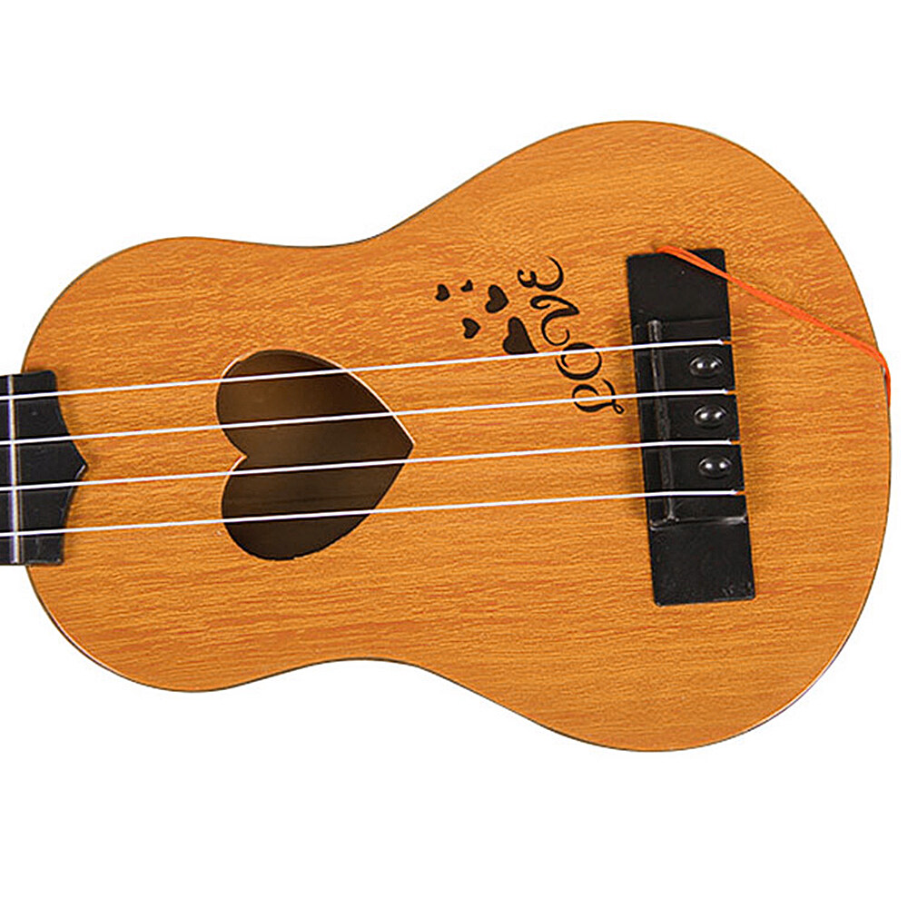 อูคูเลเล่กีตาร์ ของเล่นเด็ก[จัดส่งอย่างรวดเร็ว]#เครื่องดนตรี สำหรับเด็ก21 นิ้ว เครื่องดนตรี4 สาย กีตาร์ฮาวาย (ไม้แท้)