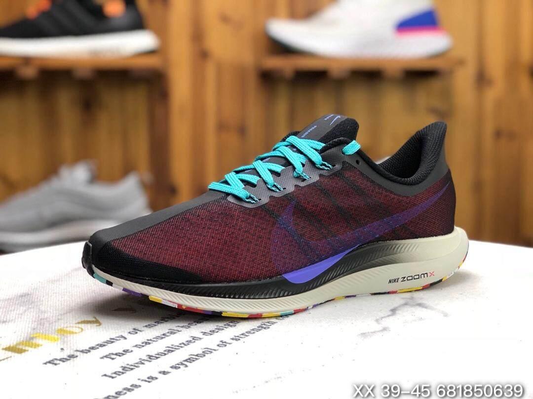 【ของแท้อย่างเป็นทางการ】NIKE ZOOM PEGASUS 35 TURBO รองเท้าผู้ชาย รองเท้าสตรี รองเท้าลำลอง แฟชั่น การทำให้หมาด ๆ รองเท้ากีฬา รองเท้าตาข่าย รองเท้าวิ่ง AJ4115-004 ร้านค้าอย่างเป็นทางการ