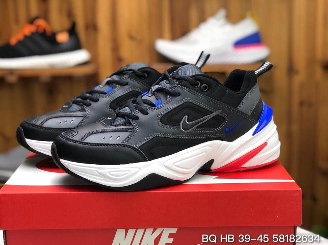 【Official genuine】Nike M2K TEKNO Men's shoes Women's shoes sports shoes fashion shoes running shoes Genuine Leather Air cushion shoes AV4789-003 Official store