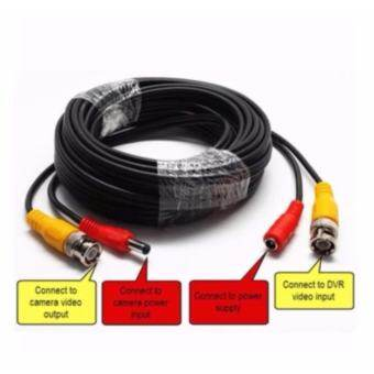 CCTV BNC CABLE 15M สายเคเบิ้ลกล้องวงจรปิด 15 เมตร 2 in 1 Audio Video Power Cable CCD Security Camera BNC RCA CCTV DVR Wire Cord