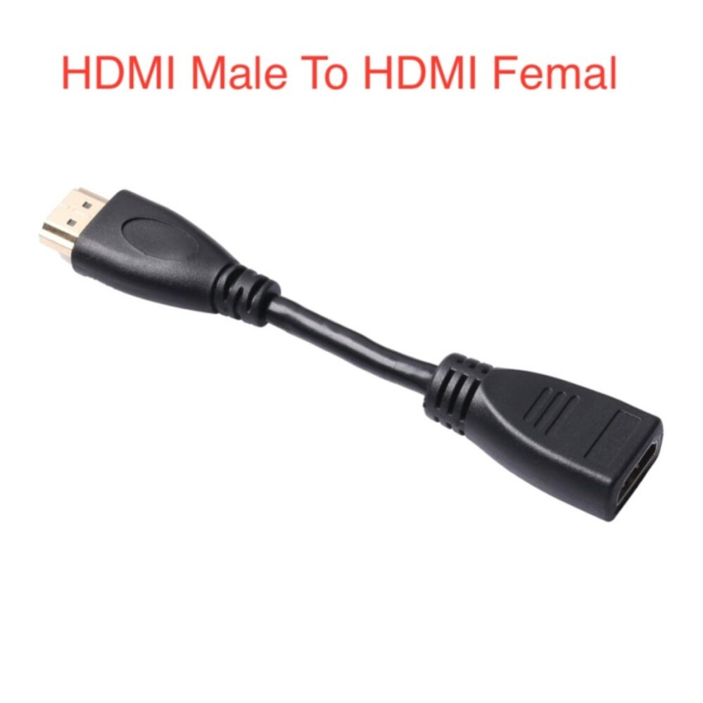 สายแปลง HDMI Male to Female Arbitrary Angle Adjustabe Rotating Adapter สายความยาว12cm- intl