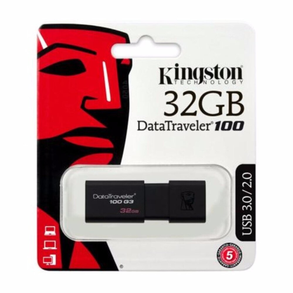 Kingston Flash Drive 32GB USB 3.0 (DT100G3/32GB)