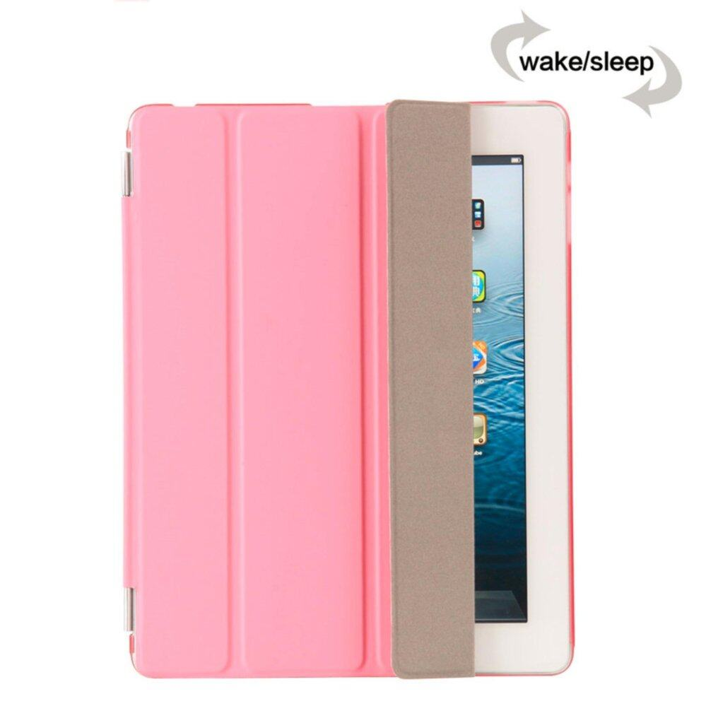 MEGA Luxury PU Leather Ultra Slim Smart Magnetic Wake/Sleep Flip Pad Cover + Translucent Protect Case for Apple iPad 2/3/4 MG0041 (White)