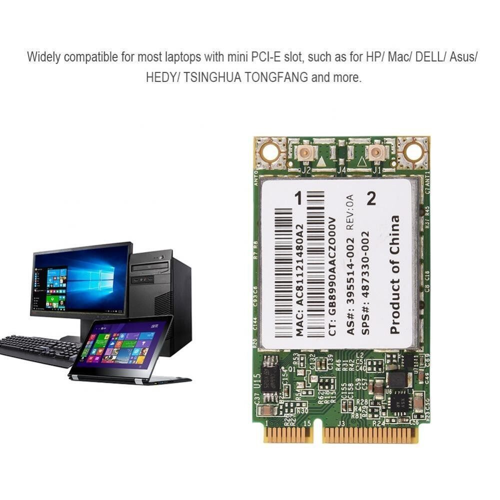 Professional 2.4G + 5G Dual-Band Mini PCI-E WIFI Wireless Card - intl