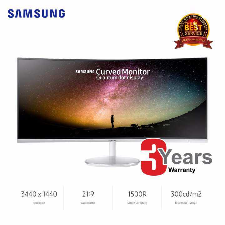 Samsung 34˝ Ultra-wide Curved Monitor with Quantum Dot Technology (LC34F791WQEXXT)