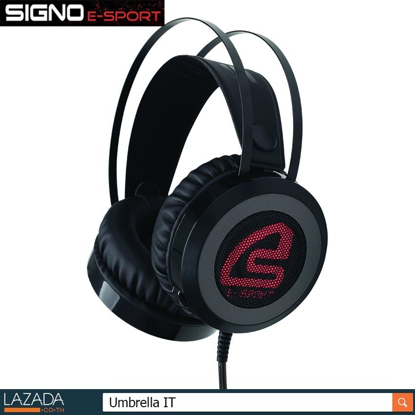 SIGNO E-Sport Gaming Headphone หูฟังเกมมิ่ง รุ่น IKAROS HP-813BLK (Black))
