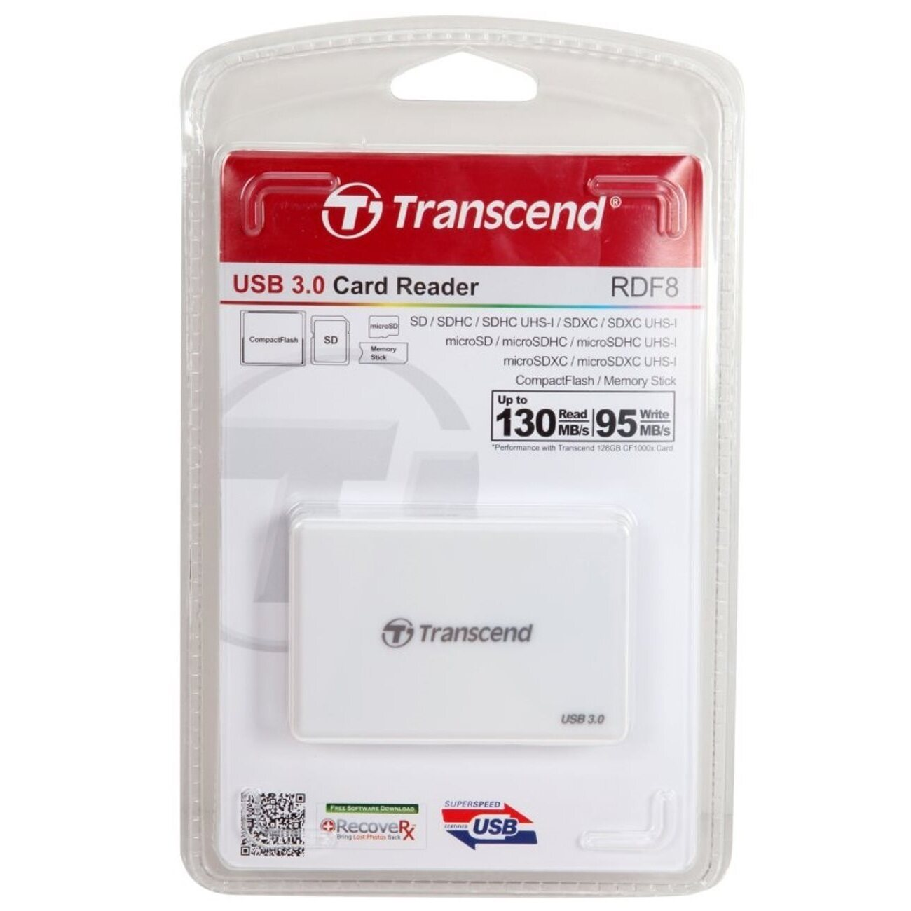 Transcend RDF8 All In One USB3.0 Card Reader (White)