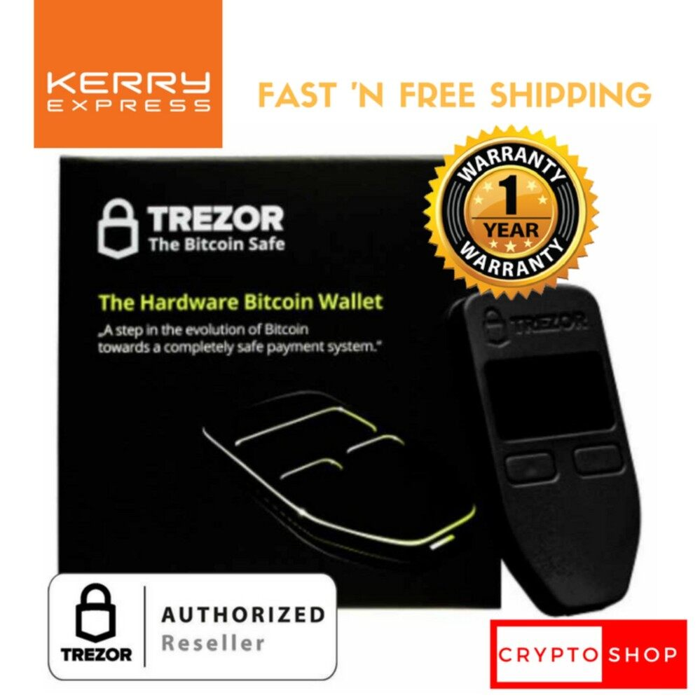 TREZOR (Black) - Thailand Authorized Reseller - Bitcoin/Cryptocurrency Hardware Wallet ราคาพิเศษ