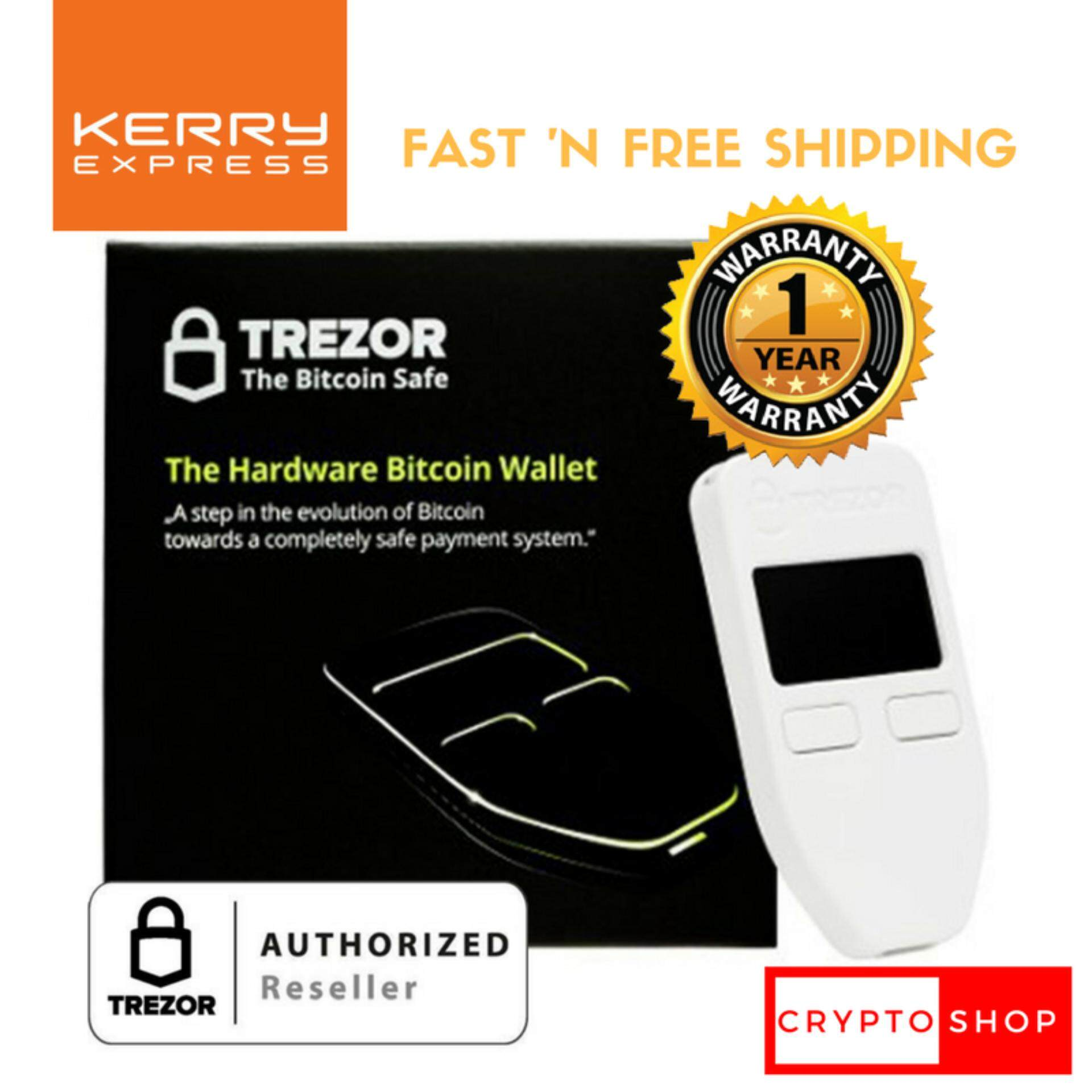 TREZOR (White) - Thailand Authorized Reseller - Bitcoin/Cryptocurrency Hardware Wallet ราคาพิเศษ