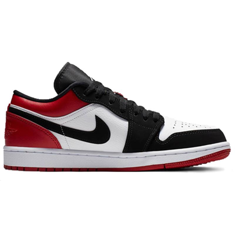 Nike Air Jordan 1 Low รองเท้าผ้าใบผู้ชาย Nike แท้สีดำและสีขาว